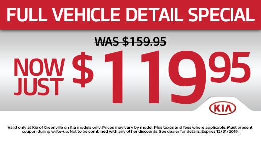Kia Of Greenville >> Service Parts Specials